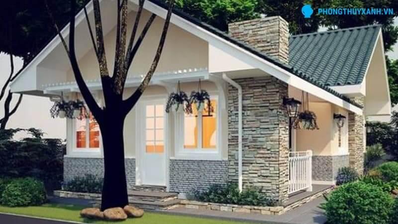 Nhà có trụ điện hoặc cây to trước nhà - Phong Thủy Xanh
