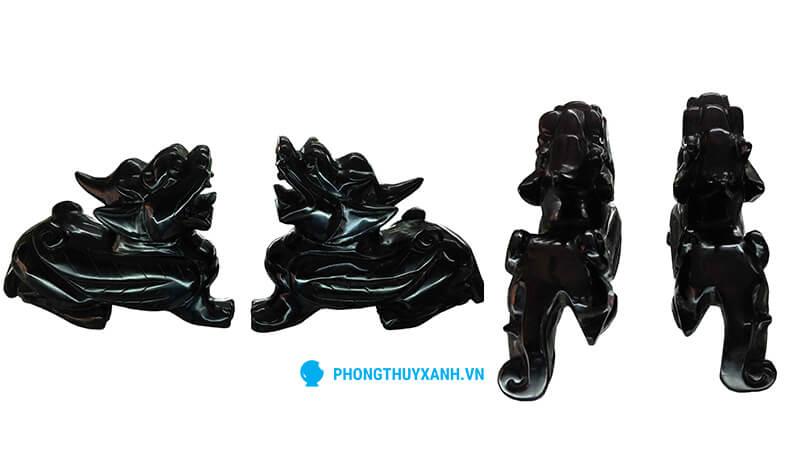 Tỳ hưu đá huyền đen - kích thước trung