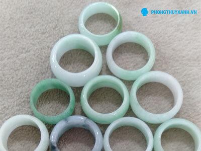 Nhẫn cẩm thạch bản liền 1 - Phong Thủy Xanh