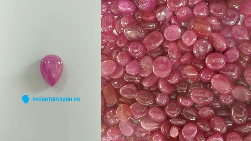 Ruby hình giọt nước, làm mặt dây chuyền - Phong Thủy Xanh