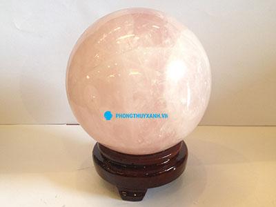 quả cầu phong thủy đá thạch anh hồng