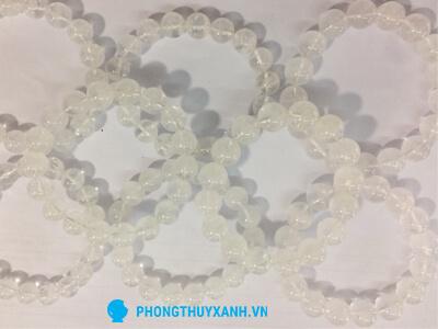 Vòng tay thạch anh trắng Myanmar 3 - Phong Thủy Xanh