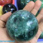 Qủa cầu đá thạch anh xanh 4 - Phong Thủy Xanh