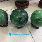 Qủa cầu đá thạch anh xanh 6 - Phong Thủy Xanh