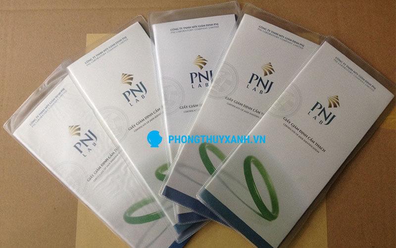 Vòng tay phong thủy đá cẩm thạch bản liền - giấy kiểm định PNJ